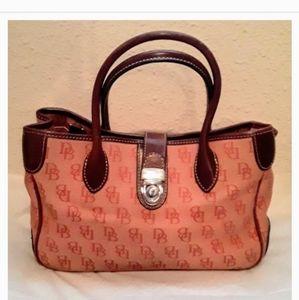 DOONEY & BOURKE Orange Monogram Satchel Handbag